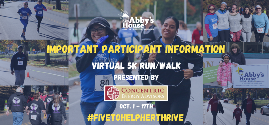 Virtual Abby's House 5K Participant Information