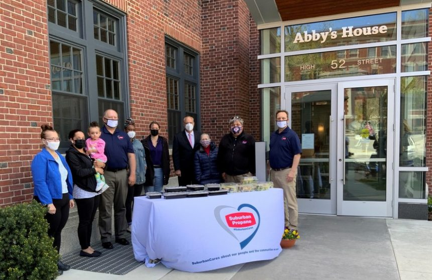 Suburban Propane Provides Catered Mother's Day Celebration + Stocks the Pantry at Abby's House