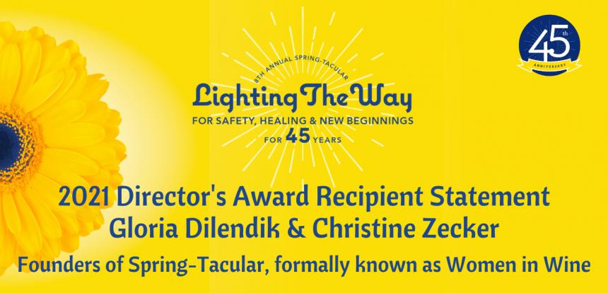 45th Anniversary   Director's Award Recipient Statements