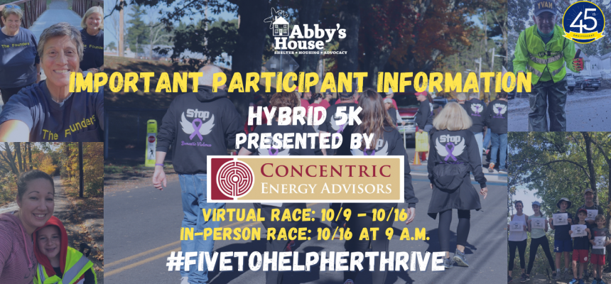 2021 Abby's House 5K Participant Information